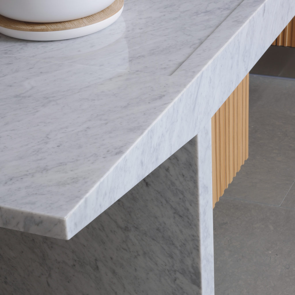 Arclinea Lignum et Lapis Carrara marmeren blad