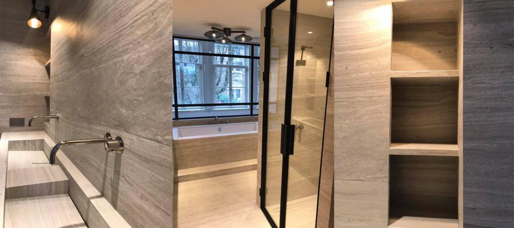 Badkamer design natuursteen inspiratie