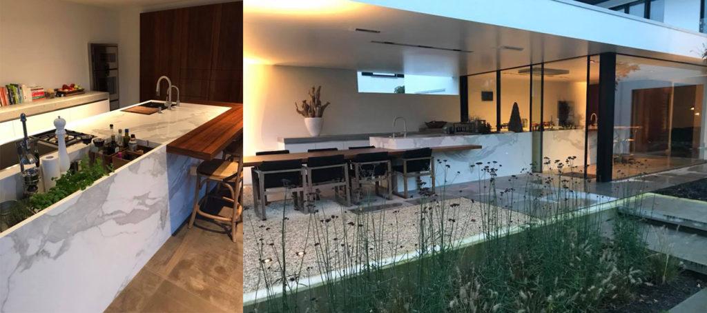 Keuken design maatwerk marmer